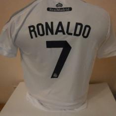 Set echipament fotbal - ECHIPAMENT FOTBAL COPII REAL MADRID RONALDO 2015-2016 10-15ANI (140, 152.164.176)