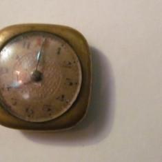 Ceas dama, Diametru carcasa: 25, Placat cu aur, Mecanic-Manual, Elegant, Analog - CY - Ceas de dama vechi nefunctional se vinde pentru piese