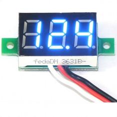 Indicator - Voltmetru digital 0-30 V - DC, auto alimentat, LED Albastru, Blue