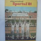 ALMANAHUL SPORTUL 1981