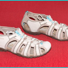 DE FIRMA _ Sandale de calitate, piele, usoare, aerisite, GEOX | nr. 41 - Sandale dama Geox, Culoare: Crem