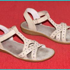 DE CALITATE _ Sandale piele, comode, aerisite, fiabile ELEFANTEN _ fete | nr. 36 - Sandale copii, Culoare: Bej, Piele naturala