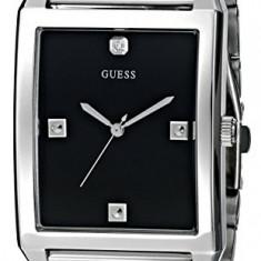GUESS Men's U0279G1 Rectangular Silver-Tone   100% original, import SUA, 10 zile lucratoare a12107 - Ceas barbatesc Guess, Quartz