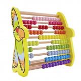 Hape Abac din lemn cu bile colorate si papagal