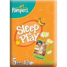Scutece unica folosinta copii - PAMPERS Scutece Sleep&Play 5 Junior Value Pack 42 buc