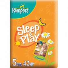 Scutece unica folosinta copii - PAMPERS Scutece Sleep&Play 5 Junior Value Pack 42 buc