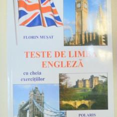 TESTE DE LIMBA ENGLEZA-FLORIN MUSAT, 2010