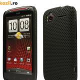 Husa HTC Sensation 4G / G14 Perforata Black, Negru, Plastic, Carcasa, Fara snur