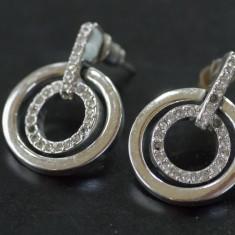 Cercei inelari din argint cu marcasite(16) - Cercei argint