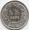Monede Straine, Europa, An: 1952 - Elvetia 1/2 Franc 1952 Argint 2.5g/0.835 KM-23 (1)