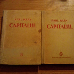 Carte Economie Politica - KARL MARX -- CAPITALUL * Critica Economiei Politice -- 2 vol., 1948