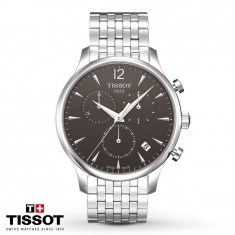Ceas Tissot Tradition Swiss Dark Gray Chronograph - Ceas barbatesc Tissot, Casual, Quartz, Inox, Cronograf, Analog