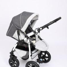 Carucior copii 2 in 1 - Carucior 2 in 1 Q9 Baby Merc Color 3 (Gri inchis cu Gri deschis) Baby-Merc