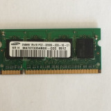 Memorie SODIMM laptop Samsung 256mb DDR 400MHz, PC2-3200, CL3