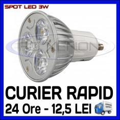 Bec/neon ZDM, Becuri economice, 20 - 50, > 10000, Interior - SPOT LED MR16, GU10, E14, E27 - 3W EPISTAR - ECHIVALENT 30W - ALB RECE SAU CALD