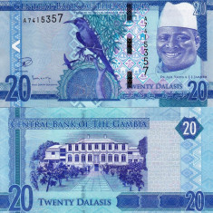 GAMBIA 20 dalasis 2015 UNC!!!