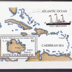 Navigatie, harti, Antigua. - Timbre straine, Nestampilat