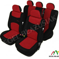 Husa Auto - Set huse scaune auto SportLine Rosu pentru Dacia Logan - SHSA2020