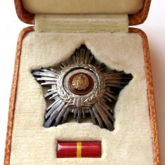 ROMANIA Ordinul Steaua Romaniei RPR cl V, cutie originala, argint masiv **