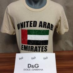 Tricou D&G UAE Dolce & Gabbana lichidare de stoc 2015 pret f mic!!! - Tricou barbati Dolce & Gabbana, Marime: 48, Culoare: Crem, Maneca scurta, Bumbac