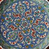 Vechi Platou / Farfurie pictata manual - ceramica Altin Cini / Kutahia Turkiye