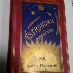 ASTRONOMIE POPULAIRE - par CAMILLE FLAMMARION - Paris 1890 - Carte Astronomie