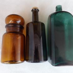 Sticle de farmacie, foarte vechi. Lot de 3 buc.Mega reducere!