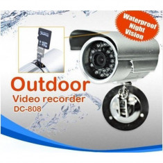 Camera CCTV, Color - Camera Video Supraveghere Metal DVR cu Inregistrare Card microSD, Exterior