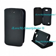 Husa telefon, Allview A5 Quad, Negru, Piele Ecologica, Husa - Husa ALLVIEW A5 QUAD negru