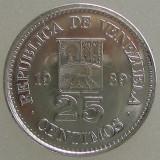 VENEZUELA KM#50a - 25 Centimos 1989 UNC