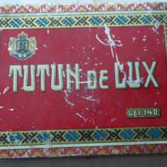 Cutie Reclama - Cutie din tabla pentru tutun de lux, regalista, romaneasca
