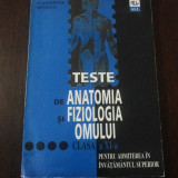 Teste admitere facultate - TESTE DE ANATOMIA SI FIZIOLOGIA OMULUI -- Valentina Nitescu -- 148 p.