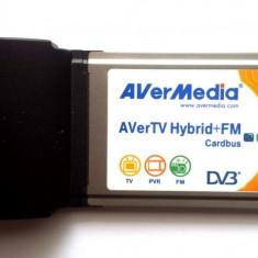 TUNER DIGITAL AVERMEDIA AVerTV Hybrid+FM PCMCIA - TRANSPORT GRATUIT - TV-Tuner PC Avermedia, DVB-T, Extern (necesita PC)