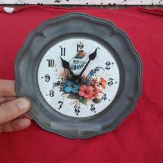 Ceas din zinc si ceramica !!! - Ceas de masa