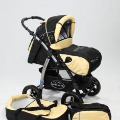 Carucior copii 2 in 1 - Carucior 2 in 1 Junior Black Yellow Baby-Merc