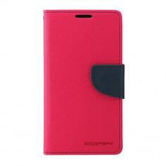 Husa Telefon Atlas, Roz, Textil, Toc - Toc My-Fancy Samsung Galaxy S5 G900 Roz/Albastru