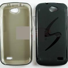 Husa Telefon Allview, Negru, Plastic, Husa - Toc plastic siliconat Allview A5 Duo
