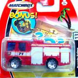 MATCHBOX-REGULAR-SCARA 1/64- DENNIS SABRE FIRE TRUCK-++2999 LICITATII !! - Macheta auto, 1:100