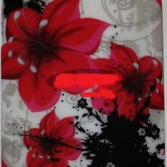 Husa, Silicon, Husa - Toc silicon Jelly Case Red Flowers Nokia Lumia 520