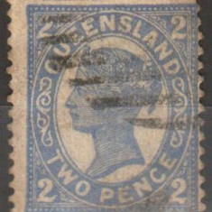 Anglia/Colonii - stat. Australiene - QUEENSLAND, 1897, Victoria, stampilat