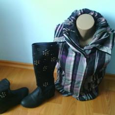 SUPER OFERTA!!vesta moderna si cizme perforate de primavara! - Vesta dama, Marime: M/L, Culoare: Mov
