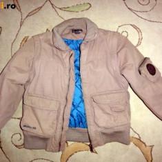 Geaca groasa de iarna, bej, marca HM, baieti 7-8 ani/ 128 cm