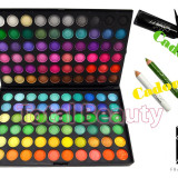Trusa machiaj profesionala 120 culori trusa farduri Jelly Matte Fraulein + CADOU - Trusa make up