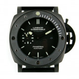 Ceas barbatesc Panerai, Casual, Cauciuc, Analog - Panerai Luminor Submersible Amagnetic Black Steel - calitate maxima !