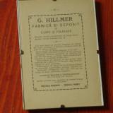 Veche reclama tiparita - G. Hillmer Fabrica si deposit de lampi si felinare  !!!