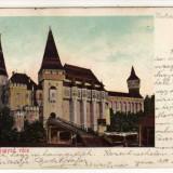 Carte Postala - HUNEDOARA CASTELUL HUNIANZILOR - VAJDAHUNYAD EDIT. HIRSCH ADOLF, CIRCULAT 1904