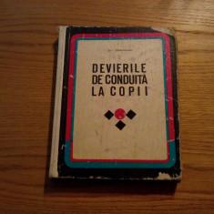DEVIEREA DE CONDUITA LA COPII * I. Strachinaru -- 1969, 325 p. - Carte Recuperare medicala