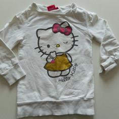 Bluza fetite, pt colanti, Sanrio, Hello Kitty, 3-5 ani. COMANDA MINIMA 30 LEI!, Culoare: Alb, Fete