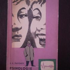 PSIHOLOGIE DISTRACTIVA -- K.K. Platonov -- 1964, 378 p. - Carte Psihologie