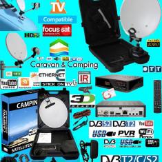 Antena Satelit - Antena tv pliabila tir-camping-rulota receptie universala